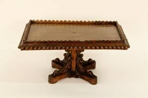 French 19th C Carved Walnut Book Stand