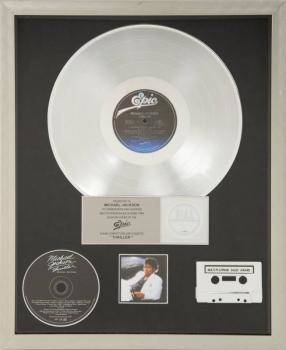 MICHAEL JACKSON MULTIPLATINUM RECORD AWARD