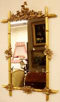 Grape Decorated Gilt Wood Mirror