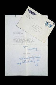 AUDREY HEPBURN AND MEL FERRER SIGNED LETTER