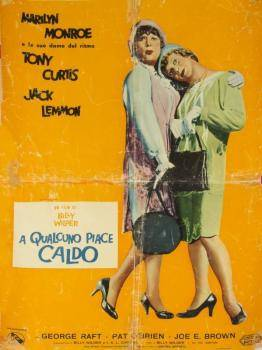 SOME LIKE IT HOT ORIGINAL ITALIAN MOVIE POSTER