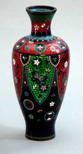 32 Old Chinese Cloisonn Butterfly Motiff Vase