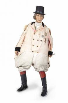 DANNY KAYE RINGMASTER COSTUME FROM MERRY ANDREW ON LIFESIZE WAX MANNEQUIN