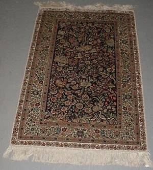 16 Hand Knotted Silk Persian Rug