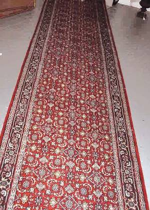 10 Persian Hand Knotted Runner Very Good