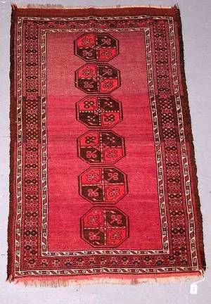 9 Hand Knotted Persian Prayer Rug Fadin
