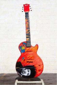 JIMI ROCKS GUITAR SCULPTURE  BRUCE BERMUDEZ