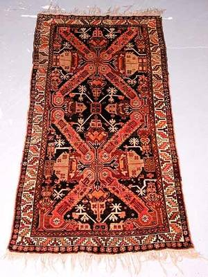 21 Hand Knotted Persian Rug Good Condition