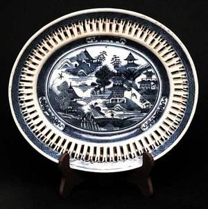 51 Oval Pierced Platter in The Canton Pattern