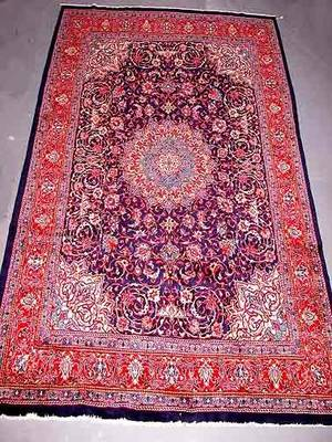 1 Hand Knotted Persian Rug Overall Good Condition