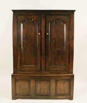 Early English TwoDoor Cupboard