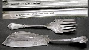 543 Tiffany  Co Beekman Sterling Silver Fish Set