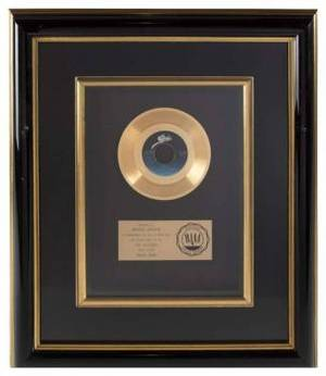 MICHAEL JACKSON GOLD SINGLE RECORD AWARD