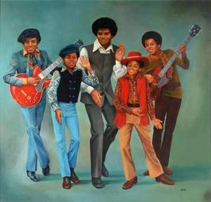 JACKSON 5 ORIGINAL OIL PAINTING BY M WERLIN