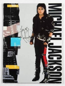 MICHAEL JACKSON SIGNED BAD PROGRAM
