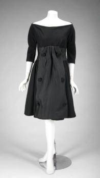 GLORIA SWANSON BLACK GIVENCHY COCKTAIL DRESS