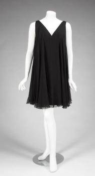GLORIA SWANSON BLACK ESTEVEZ COCKTAIL DRESS
