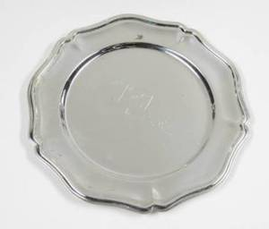 LUCILLE BALL ENGRAVED SILVER PLATED DISH