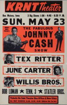 JOHNNY CASH VINTAGE POSTER