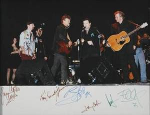 JOHNNY CASH AND U2 SIGNED PERFORMANCE EPHEMERA