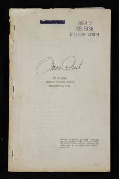 MAE WEST SIGNED SCRIPT FROM IM NO ANGEL