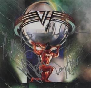 VAN HALEN SIGNED ALBUM COVER IMAGE FROM 5150