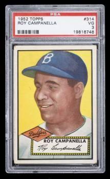 ROY CAMPANELLA 1952 TOPPS BASEBALL CARD