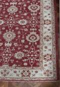 CRANBERRY AND BEIGE ORIENTAL AREA RUG
