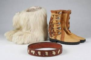 TWO PAIRS OF BOOTS AND A BELT