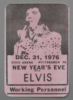 ELVIS PRESLEY GUITAR PICK BACKSTAGE PASS AND CARD