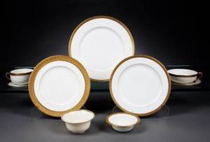 PARTIAL SET OF THEODORE HAVILAND DINNERWARE