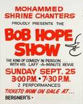 PROMOTIONAL BOB HOPE SHOW POSTER AND CHARM