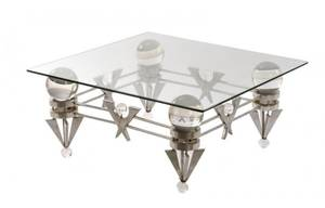 OneofaKind Chrome  Lucite Sculptural Table
