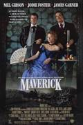 SIGNED POSTER FROM THE MOTION PICTURE MAVERICK