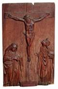 A GOTHIC STYLE WOOD RELIEF PANEL