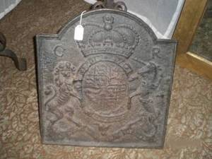 AN ENGLISH CAST IRON FIREBACK