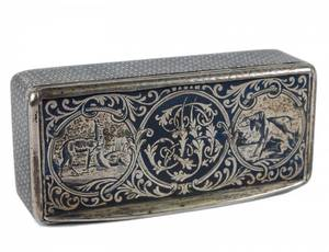 CONTINENTAL NIELLO SILVER SNUFF BOX