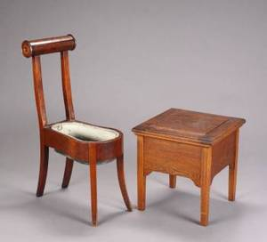 TWO ANTIQUE COMMODES