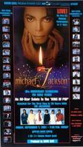 MICHAEL JACKSON SIGNED CONCERT POSTER