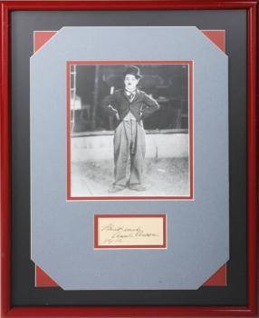CHARLIE CHAPLIN SIGNATURE FROM 1932