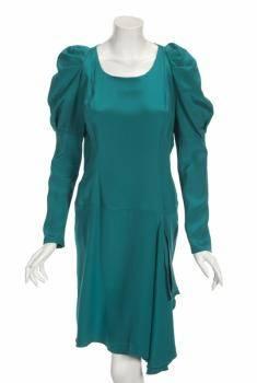 JOAN COLLINS TEAL DRESSES