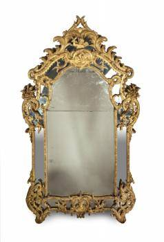 ANTIQUE LOUIS XV GILTWOOD MIRROR