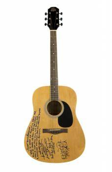 ARTIMUS PYLE SIGNED AND INSCRIBED GUITAR