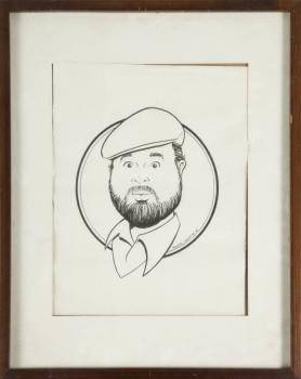 DOM DeLUISE GROUP OF THREE PORTRAIT ILLUSTRATIONS