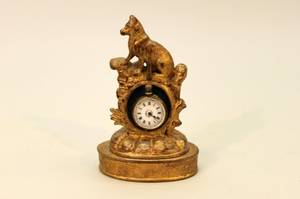 Carved Gilt Wood Pocket Watch Holder