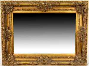 English Rococo Style Gilt Beveled Wall Mirror