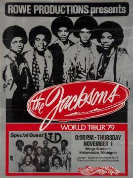 THE JACKSONS 79 WORLD TOUR POSTER