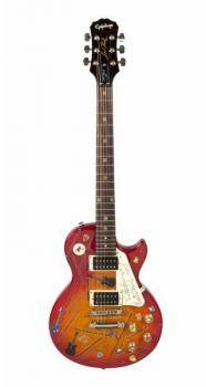 ERIC MANSFIELD AND MONICA ROBINS SIGNED GUITAR