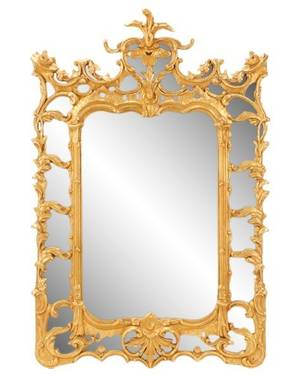 Italian Baroque Style Carved Giltwood Mirror
