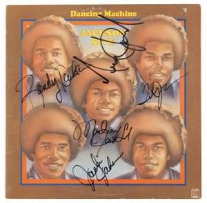 JACKSON FAMILY SIGNED ALBUM COVER